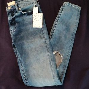 Free People Turquoise Jeans